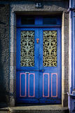 Blue grunge door Royalty Free Stock Photo