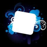 Blue_grunge_frame Stock Images