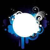 Blue_grunge_frame_2 Image libre de droits