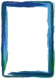 Blue grunge frame royalty free illustration