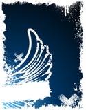 Blue grunge frame Royalty Free Stock Images