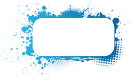Blue grunge frame Royalty Free Stock Photo