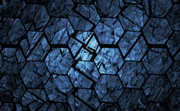 Blue grunge geometrical background Stock Image