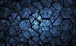 Blue grunge geometrical background Stock Image