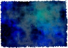 Blue grunge paper Stock Image