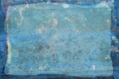 Blue grunge rustic sheet Royalty Free Stock Images