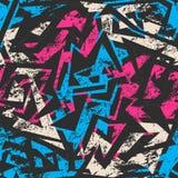 Blue grunge seamless pattern Stock Image