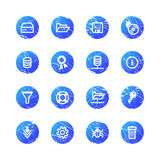 Blue grunge server icons Royalty Free Stock Photo