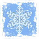 Blue Grunge Snowflake Royalty Free Stock Images
