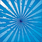 Blue Grunge Starburst Stock Images