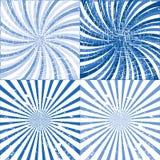 Blue Grunge Twirls Stock Image