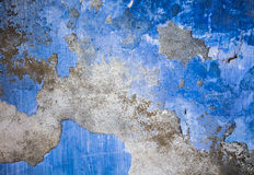 Blue grunge wall background Stock Photos