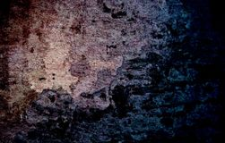 Blue grunge wall dark texture. Pencil drawing abstract texture. Old stone background. Rough cement wall texture. Empty rough. Stylish image for a variety of Royalty Free Stock Photos