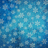 Blue grunge winter background stock illustration