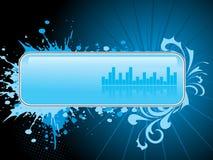 Blue grungy artwork banner Stock Image