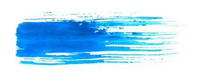 Blue grungy brush pattern Stock Image