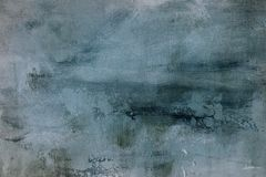 Pale blue grungy painting background or texture. Blue grungy canvas painting, abstract background or texture royalty free stock photo