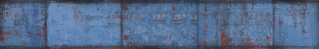 Blue Grungy Metal Background (Website Head) Stock Photography