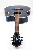 Blue guitar. Blue semiqcoustic guitar on white Stock Image