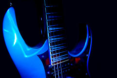Blue Guitar Royalty Free Stock Image