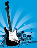 Blue guitar background Royalty Free Stock Photography