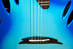 Blue guitar details Stock Image