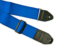 Blue guitar strap Stock Images