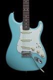 Blue Guitar Stock Photography