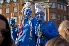 Blue guys - Gay Pride Copenhagen Stock Photos