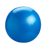 Blue gym ball. Nice blue gymnastic ball better to exercise everywhere Stock Photo