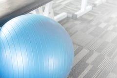 Blue gym ball split tone Stock Image