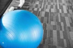Blue gym fit-ball split tone Royalty Free Stock Image