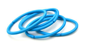 Blue hair bands Royalty Free Stock Image