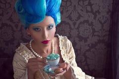 Blue hair Stock Photo