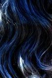 Blue hair texture Stock Photography