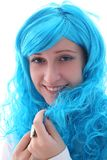 Blue hairs girl Stock Photo