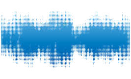 Blue halftone abstract design background in the form of wave. Stock Image