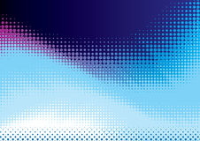 Blue halftone background Stock Photography