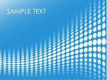 Blue halftone background Royalty Free Stock Photo