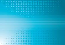 Blue halftone background Stock Image