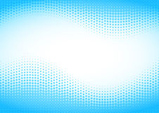 Blue halftone background. Royalty Free Stock Images