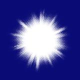 Blue halftone blast. EPS 10 Royalty Free Stock Image