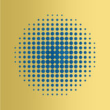 Blue Halftone circles  background, halftone dot pattern. Royalty Free Stock Photos