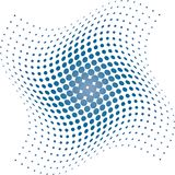 Blue Halftone dots background Stock Images