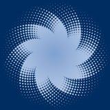 Blue Halftone Dots Star. Light blue halftone dots star on blue background Royalty Free Stock Photography