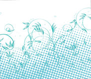 Blue halftone nature Stock Images