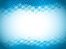 Blue Halftone Wave Royalty Free Stock Photography