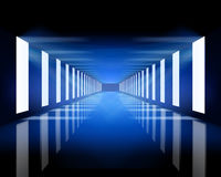Blue hall. Empty blue hall. Vector illustration stock illustration