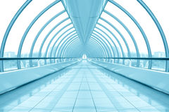 Blue hall of business center Royalty Free Stock Images
