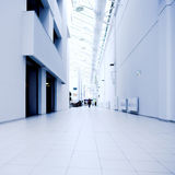 Blue hall of office Royalty Free Stock Photo